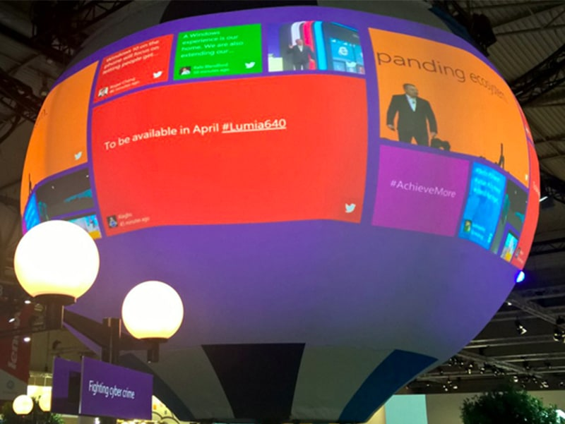Social Wall Mobile World Congress Barcelone