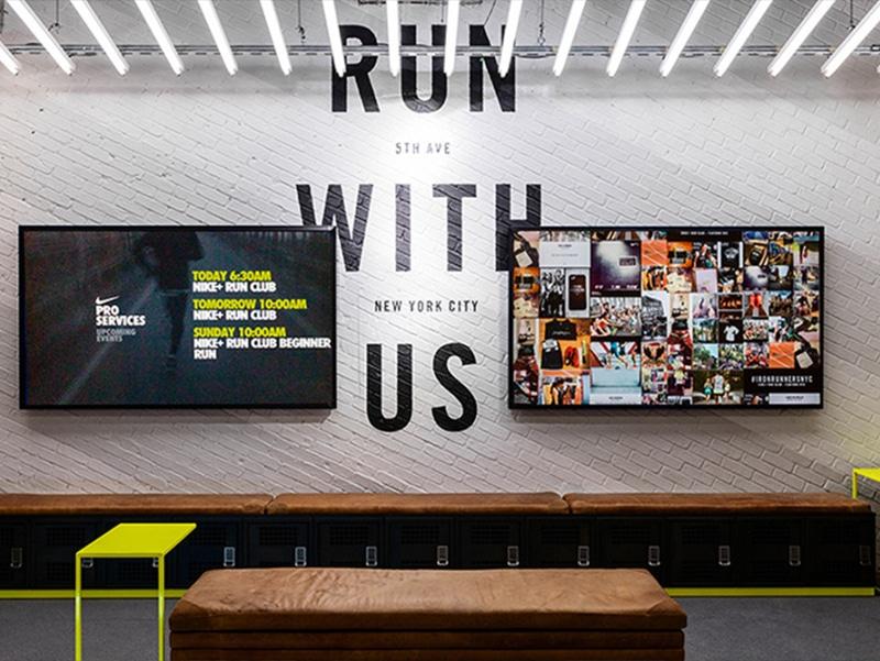 Social Wall Événement Nike